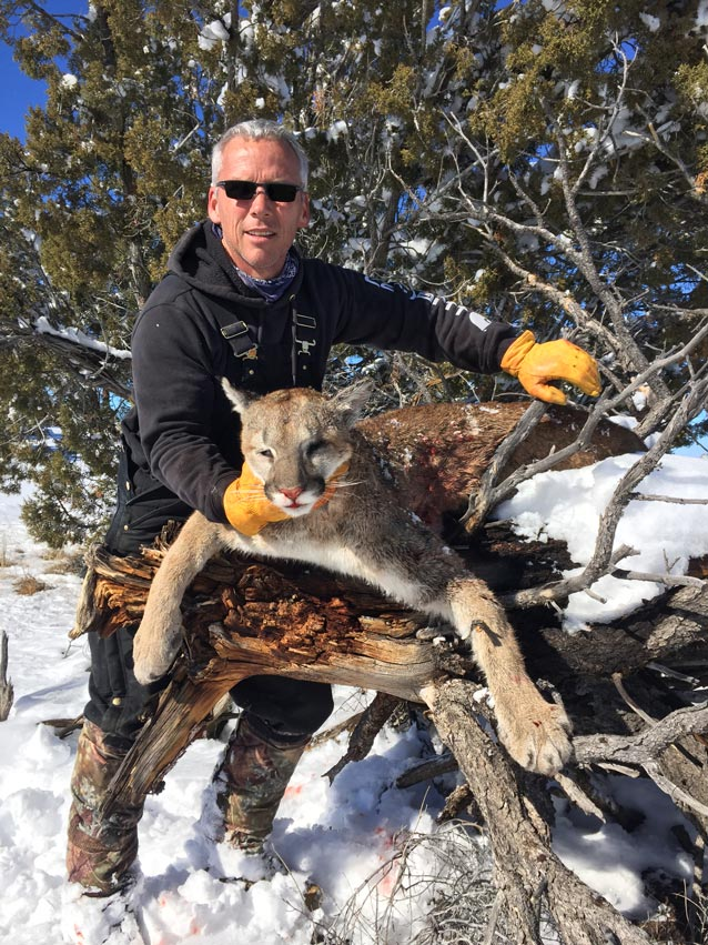 Ben Becerra with New Mexico mountain lion taken at G3 Outfitters
